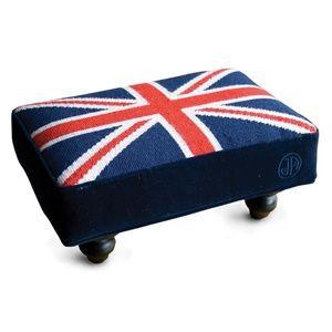 Jonathan Adler Needlepoint Stool (British Flag)